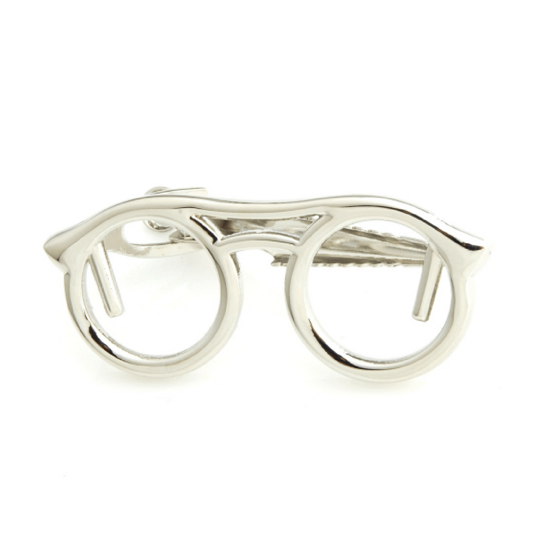 Glasses Tie Clips - Gold/ Silver