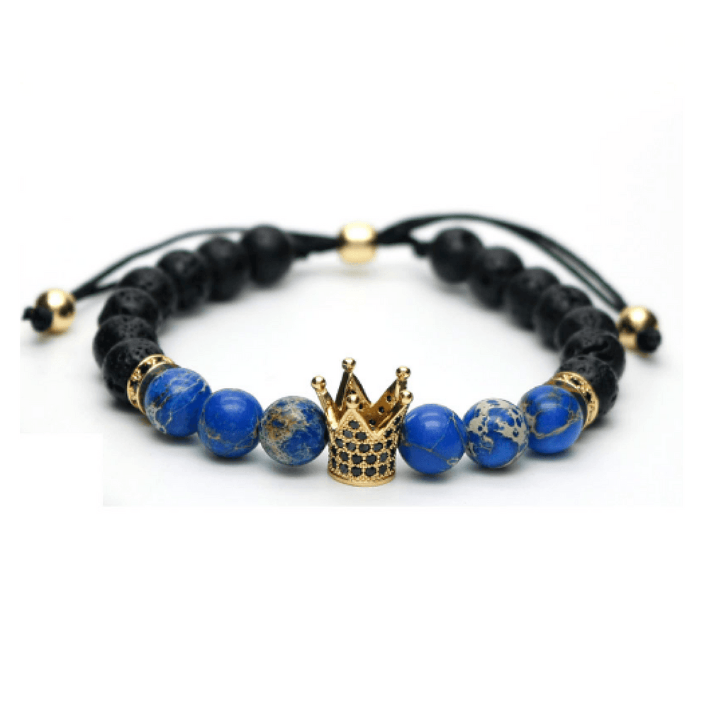 Lava Sediment Stone King Lace Up Bracelets - More Styles Available
