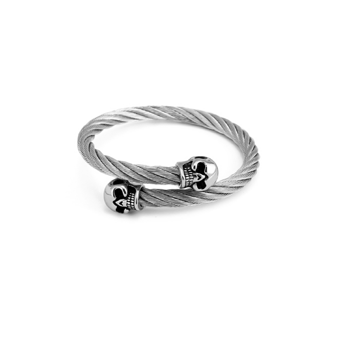 Double Skull Twist Bangles - More Styles Available
