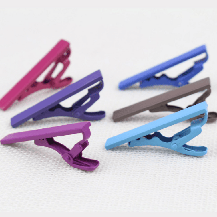 Solid Colour Tie Bars - Many Colours Available