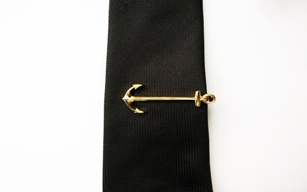 Anchor Tie Clips - Gold/ Silver - GuysDrawer.com - 4