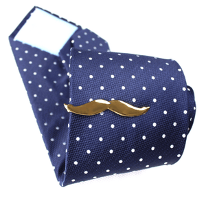 Mustache Tie Clips - Gold/Silver - GuysDrawer.com - 2