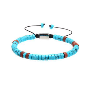 Ceramic Aqua Lace Up Bracelets