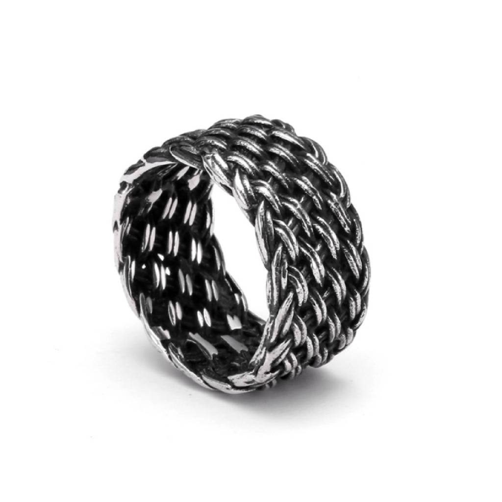 Titanium Knitted Ring