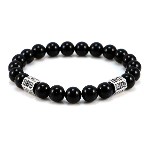 Black Onyx Cylinder Bracelets - More Colours Available - GuysDrawer.com - 3
