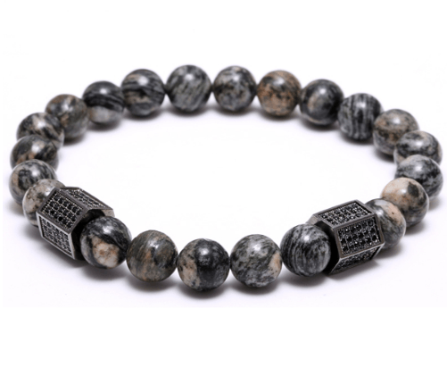 Agate Stone Cylinder Bracelets - More Styles Available - GuysDrawer.com - 2