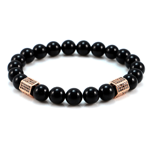 Black Onyx Cylinder Bracelets - More Colours Available - GuysDrawer.com - 4