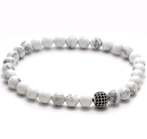Disco Ball White Agate Stone Bracelets - more styles available