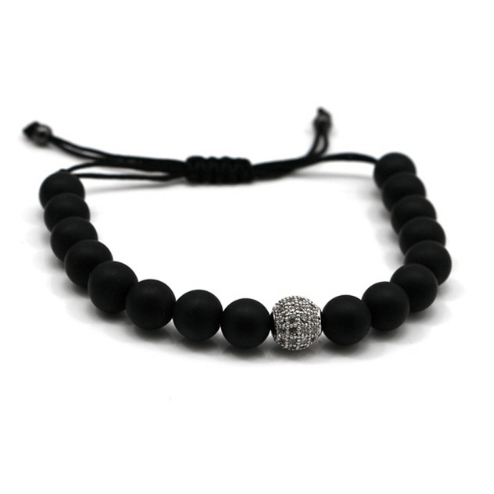 Black Agate Bracelets - More Styles Available - GuysDrawer.com - 3
