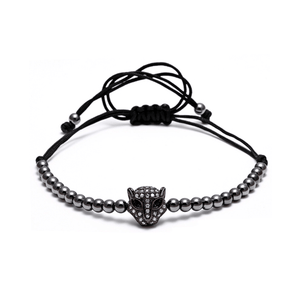 Black Panther Macrame Bracelets - More Styles Available - GuysDrawer.com - 2