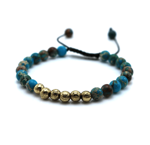 Micro String Natural Stone Bracelets - More Colours Available - GuysDrawer.com - 4