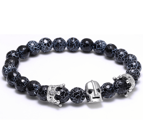 Weathered Agate Stone Helmet Bracelets - More Styles Available