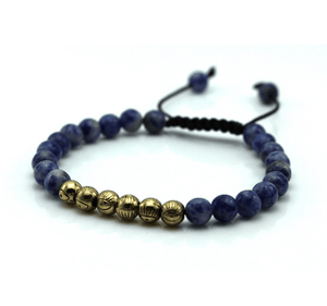 Micro String Natural Stone Bracelets - More Colours Available - GuysDrawer.com - 2