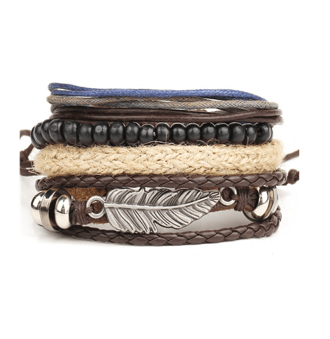 Leather and Braided Bracelet Sets - GuysDrawer.com - 2