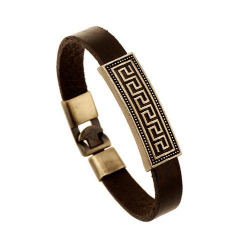 Brown Leather Bracelets - More Styles Available - GuysDrawer.com - 1