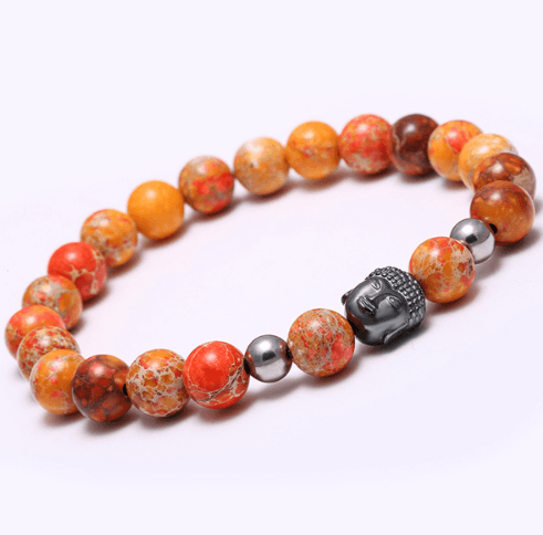 Agate Stone Buddha Head Bracelets - More Colours Available - GuysDrawer.com - 10