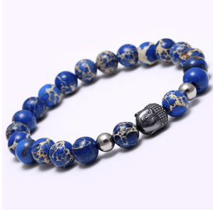 Agate Stone Buddha Head Bracelets - More Colours Available - GuysDrawer.com - 11
