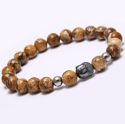 Agate Stone Buddha Head Bracelets - More Colours Available - GuysDrawer.com - 12