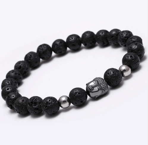 Agate Stone Buddha Head Bracelets - More Colours Available - GuysDrawer.com - 3