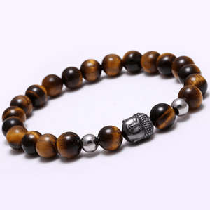 Agate Stone Buddha Head Bracelets - More Colours Available - GuysDrawer.com - 4