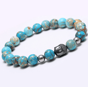 Agate Stone Buddha Head Bracelets - More Colours Available - GuysDrawer.com - 7