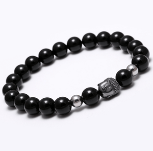 Agate Stone Buddha Head Bracelets - More Colours Available - GuysDrawer.com - 9