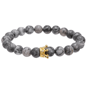 Jasper Beads Crown Bracelets - More Styles Available - GuysDrawer.com - 2