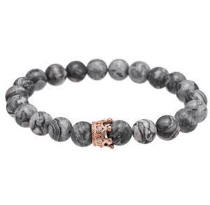 Jasper Beads Crown Bracelets - More Styles Available - GuysDrawer.com - 4