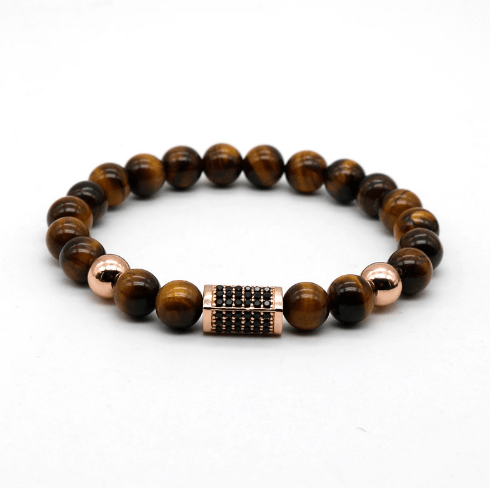 Onyx Cuboid Tiger Eye Bracelets - More Styles Available - GuysDrawer.com - 4