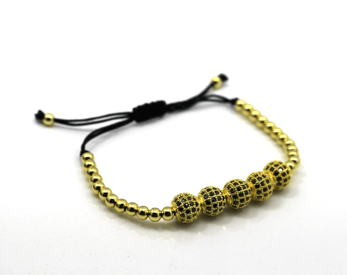 Disco Ball Macrame Bracelets - More Colours Available - GuysDrawer.com - 4