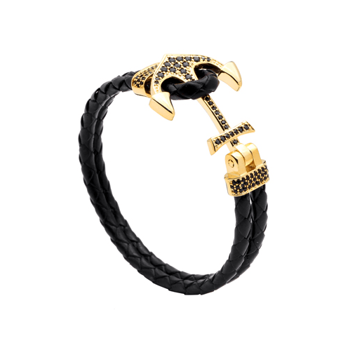 Leather Anchor Bracelet- More Styles Available