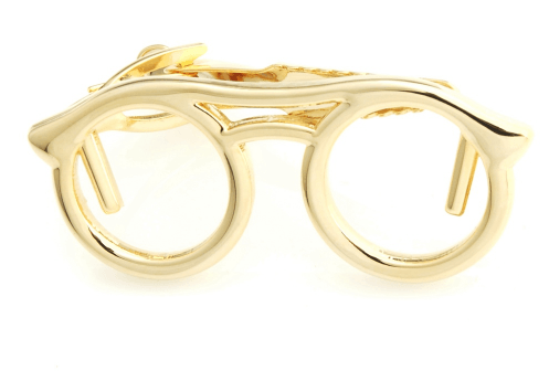 Glasses Tie Clips - Gold/ Silver - GuysDrawer.com - 2
