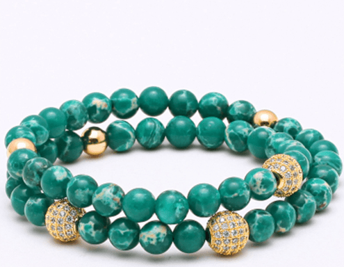Jasper Stone Double Length Bracelets - More Styles Available - GuysDrawer.com - 2
