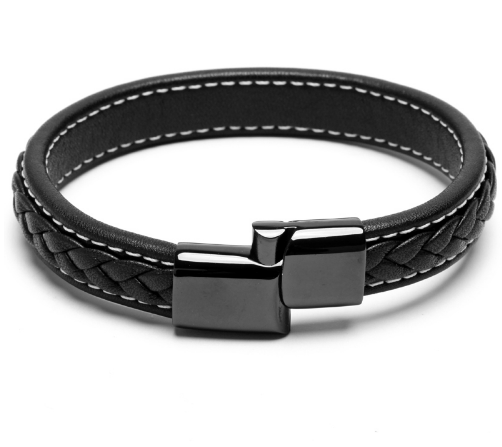 Leather Magnetic Clasp Bracelets - More Styles Available