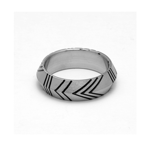 Vintage Stainless Steel Lattice Rings - More Styles Available