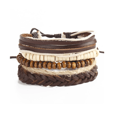 Leather and Braided Bracelet Sets - GuysDrawer.com - 5