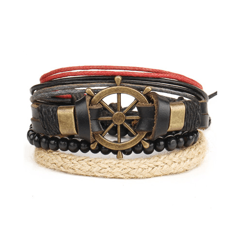 Leather and Braided Bracelet Sets - GuysDrawer.com - 6