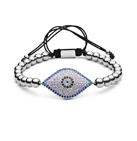 Turkish Blue Evil Eye Lace Up Bracelets - More Styles Available - GuysDrawer.com - 4