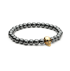 Haematite Skull Bracelets - More Styles Available - GuysDrawer.com - 1