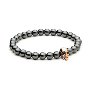 Haematite Skull Bracelets - More Styles Available - GuysDrawer.com - 2
