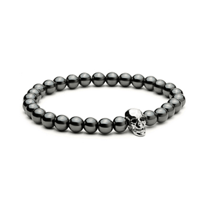 Haematite Skull Bracelets - More Styles Available - GuysDrawer.com - 4
