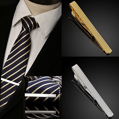 Traditional Tie Clips - Gold/Silver - GuysDrawer.com - 1