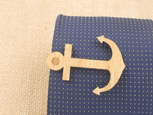 Wooden tie Clips - 4 Styles