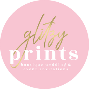 glitzy prints boutique wedding & event invitations