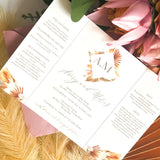 Avery boho invitation gate fold rustic wedding invitation