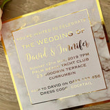 Gold Foil Marble Printed Wedding Invitation