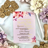 MADELINE  FOIL BLUSH PINK INVITATION