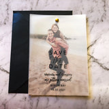 Vellum Save the Date Photo Invitation