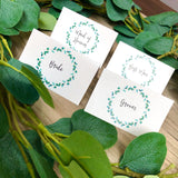 Allanah Eucalyptus Leaf Pocket Invitation