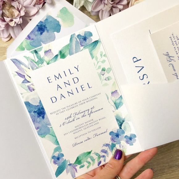 Emily Pocket Invitation Suite